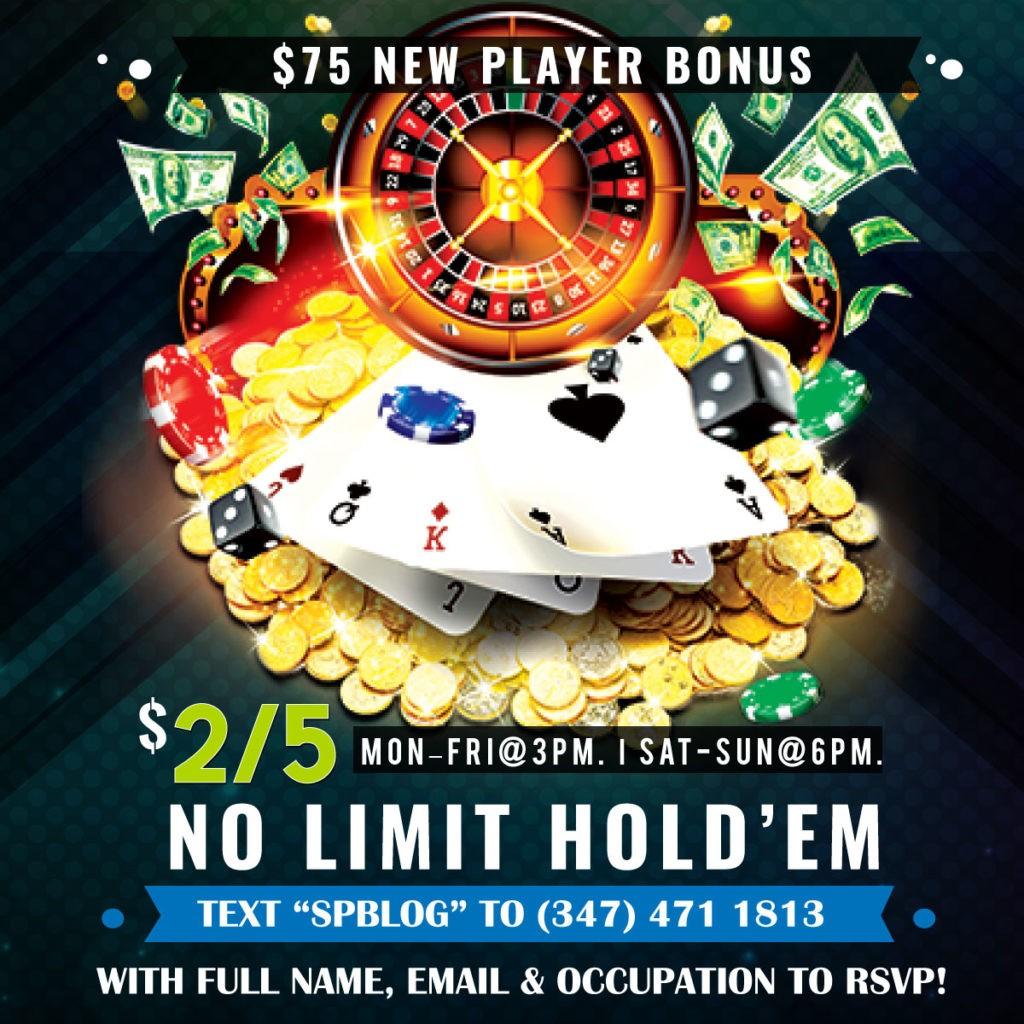 2/5 NLH, 5/10 NLH, and/or PLO! $50 First Time Bonus!