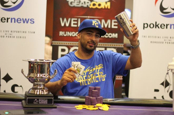 Rob Palacios has won the RunGood Poker Series Harrah's North Kansas City Main Event for $29,833