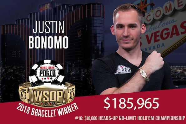 Justin Bonomo Wins 2018 WSOP $10,000 No-Limit Hold'em Heads-Up Championship