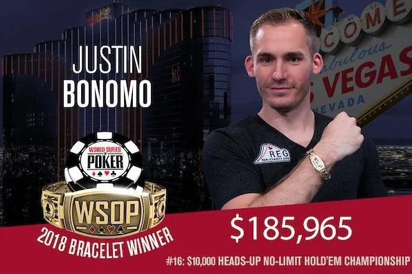 Justin Bonomo Wins 2018 WSOP $10,000 No-Limit Hold'em Heads-Up Championship
