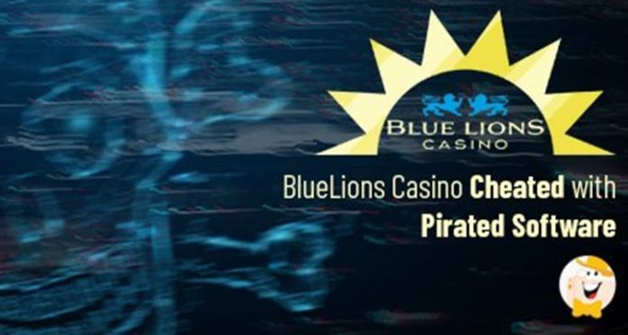 Investigation into Play7777 Casino reveals BlueLions Casino using pirated software